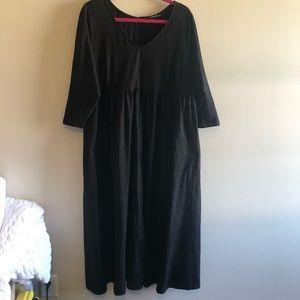 Eshakti Black Maxi Dress Long